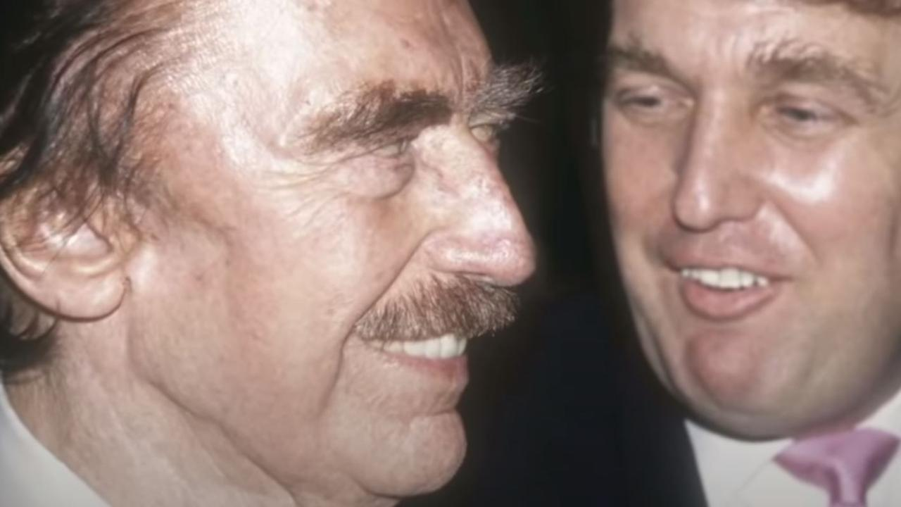 Fred Trump with his son Donald. Picture: ABC News