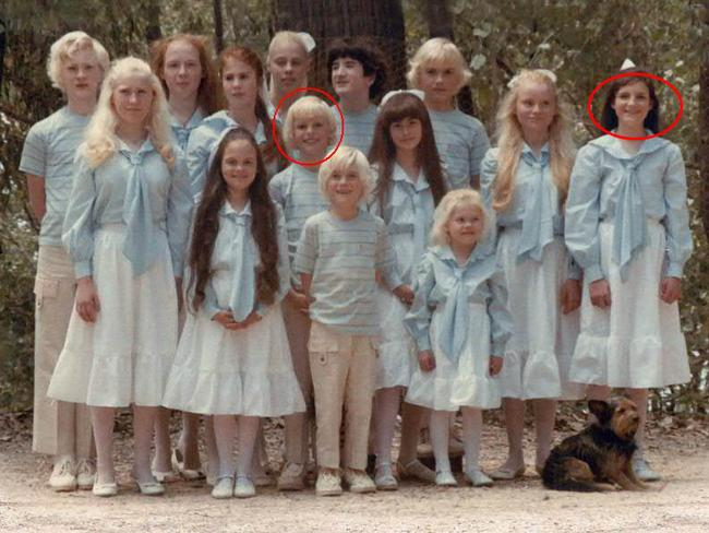 Ben (centre, circled) and Anouree (right, circled), with the other children.
