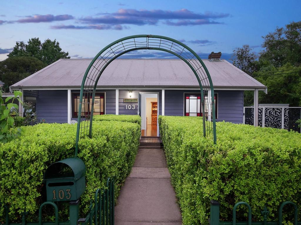 The facade of this Berowra Heights home dates back to 1935