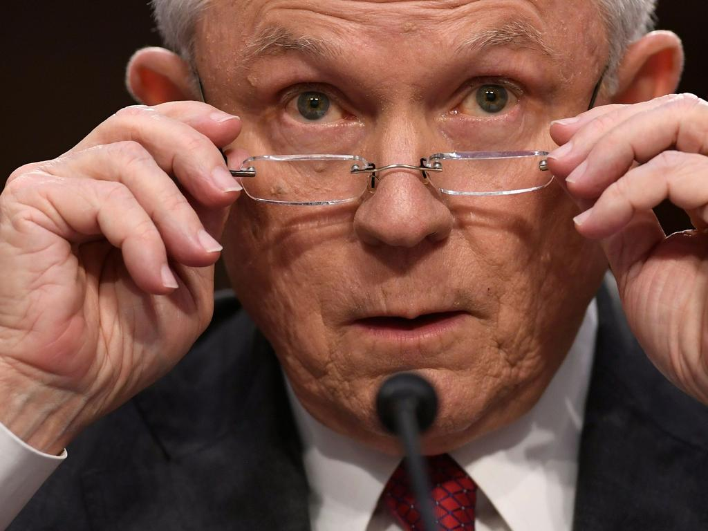 Then Attorney-General Jeff Sessions fired Andrew McCabe a day before he was set to retire. Picture: AFP