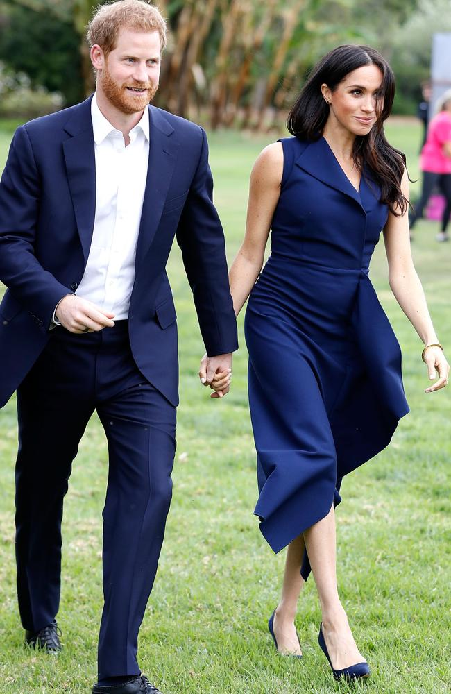 A slightly more visible baby bump today. Picture: Chris Jackson/Getty Images