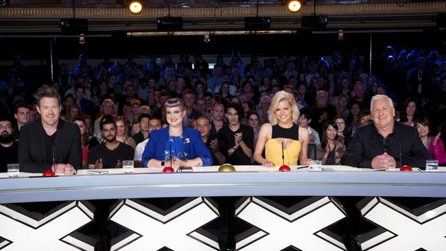 Despite spending big on great judges like Eddie Perfect, Kelly Osbourne, Sophie Monk and Dicko — Australia's Got Talent failed to rate well in 2016. Picture: Nine.