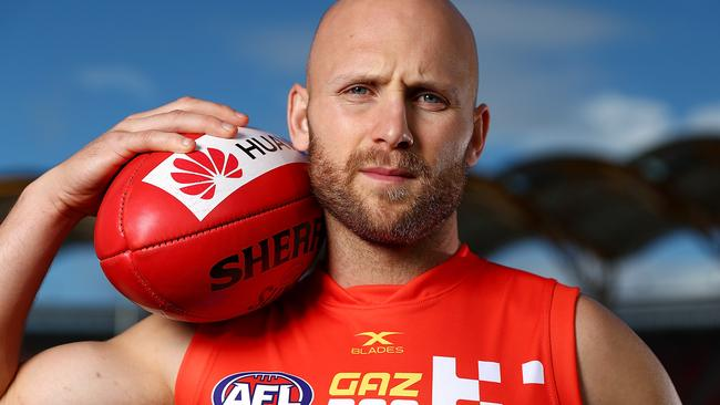 Gary Ablett in his special 300th game jumper. Picture: Getty Images