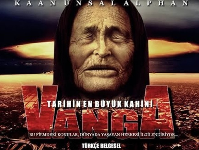 An apocalyptic-looking poster advertising a documentary based on Vanga's life
