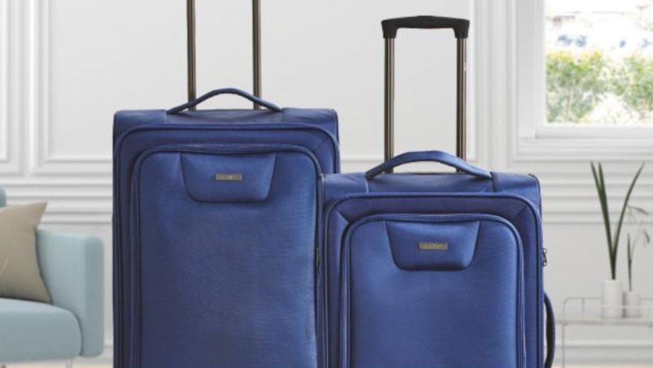 The ultralight two-piece suitcase set comes in navy and grey this time around.