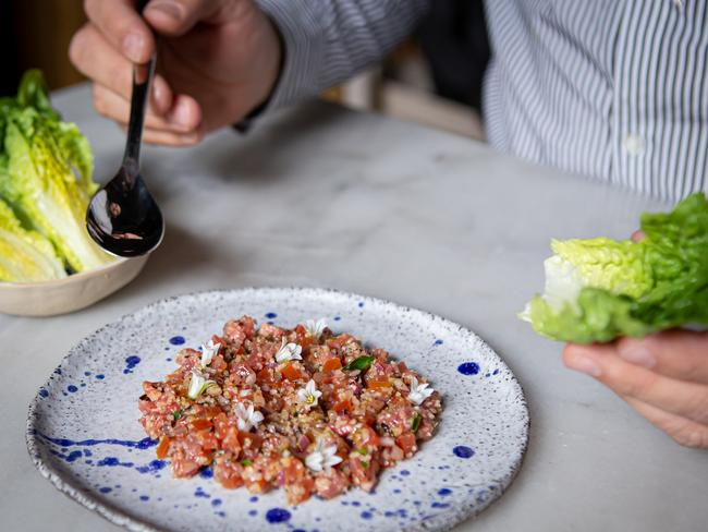 BOOK A TABLE Hailed by delicious. magazine as the No.1 eatery in Victoria, and also recently nabbing its first Chef Hat award, Melbourne restaurant Tulum, in the inner southeast of suburban Balaclava, is making waves nationwide thanks to its inventive cooking and contemporary take on traditional Turkish cuisine. Standout dishes include the signature cilbir (egg with smoked yoghurt and chicken crackling) and the pumpkin candy. However, hungry diners can't go past the seven-course degustation menu. It's a Turkish delight.