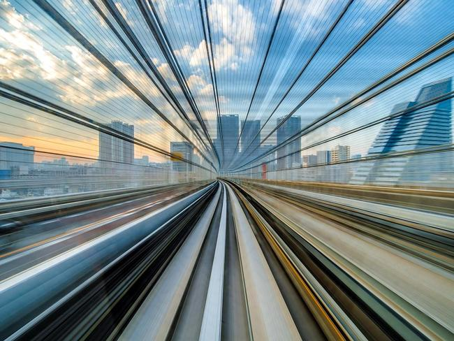 Warp Speed ... I took this shot while traveling to Tokyo on the Yurikamome Line which takes its name from the common black-headed gull which populates the bay of said Japanese capital. Location: Tokyo, Japan. Picture: Mike Hollman (NZ)/Siena International Photo Awards 2016