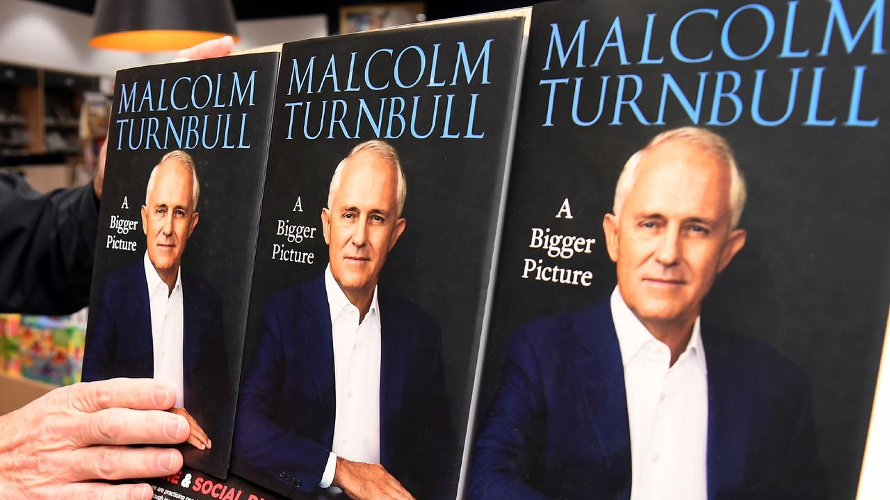 Critical of current Prime Minister Scott Morrison, Turnbull's memoir was released early after pirated copies found their way into the hands of politicians and media. Picture: William West/AFP.