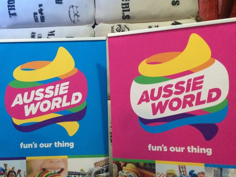 Aussie World has unveiled its new logo. Picture: Janine Hill