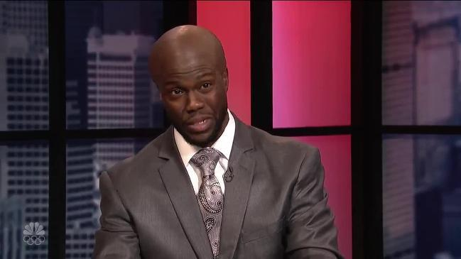 Kevin Hart does hilarious Shaq impersonation on SNL