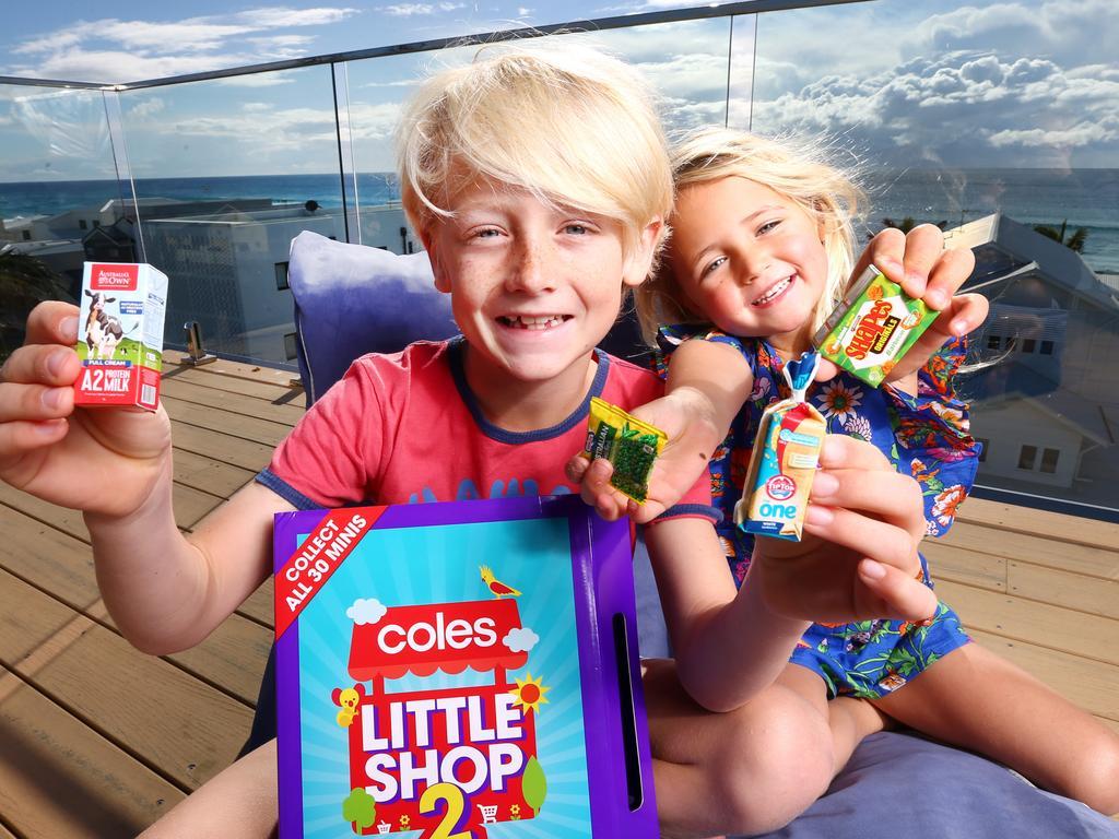 Coles' Little Shop promotion has proved popular. Picture: NIGEL HALLETT