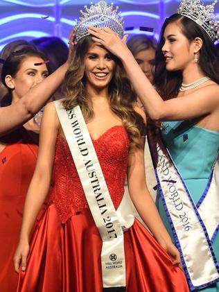 Miss World Australia 2017 winner Esma Voloder. Picture: Tony Gough