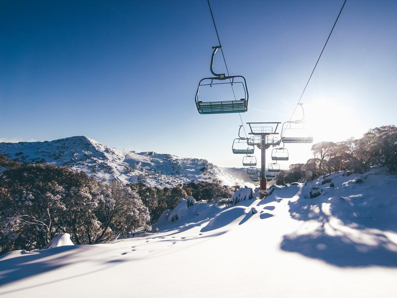 Supplied Travel AUST SKI STORY - Perisher sunrise. Sunrise from the Terminal Chair,  at Blue Cow. Credit: Perisher