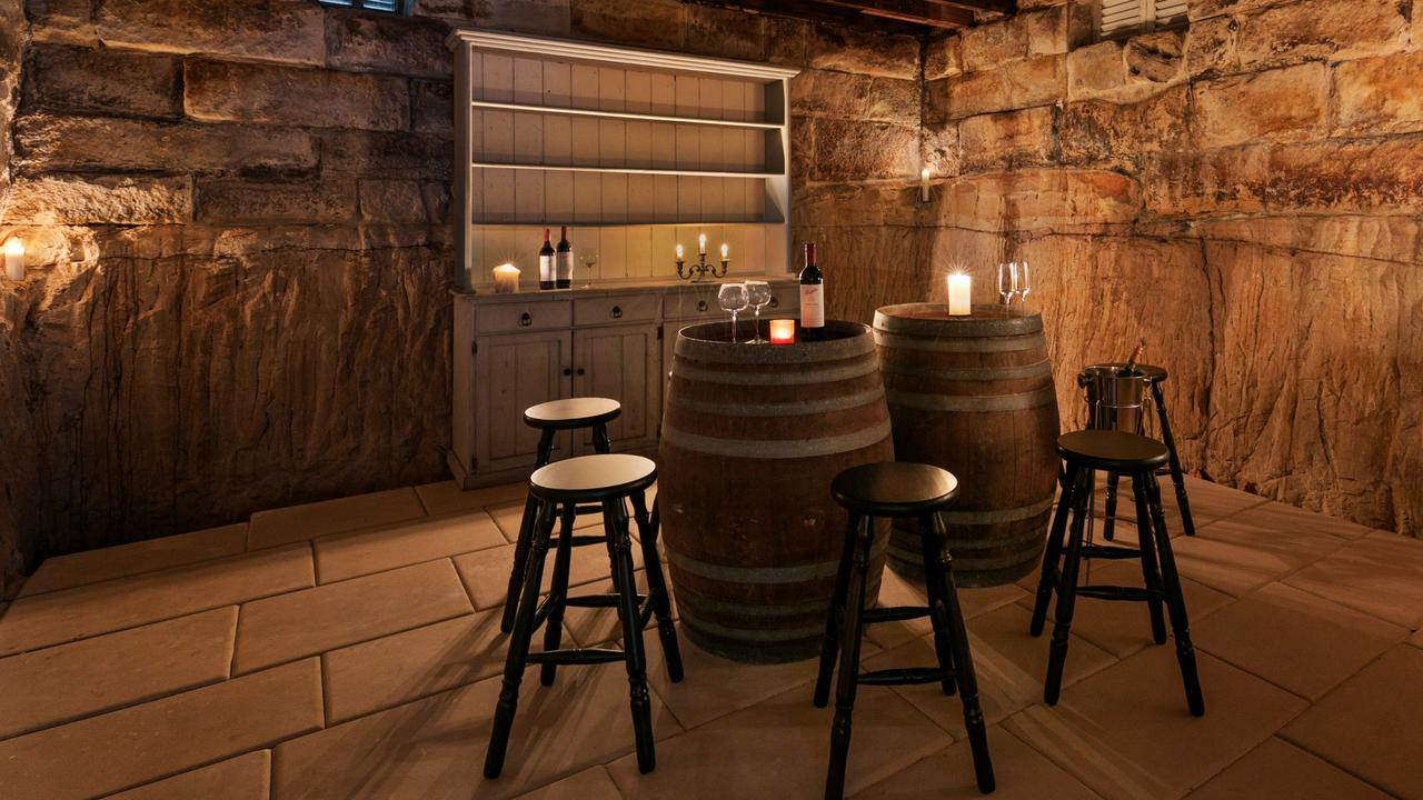 ... the adjacent wine-tasting room would be perfect for sharing ghost stories or even hosting a seance.