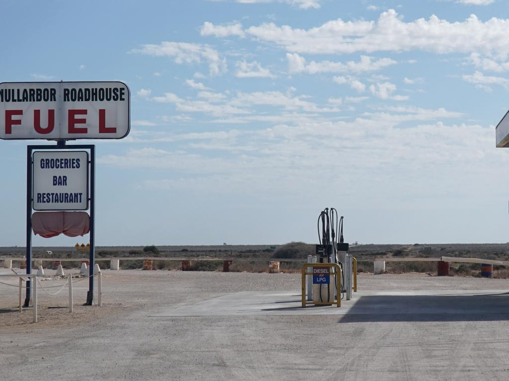 You never really know what you will find along Australia's remote desert roads.