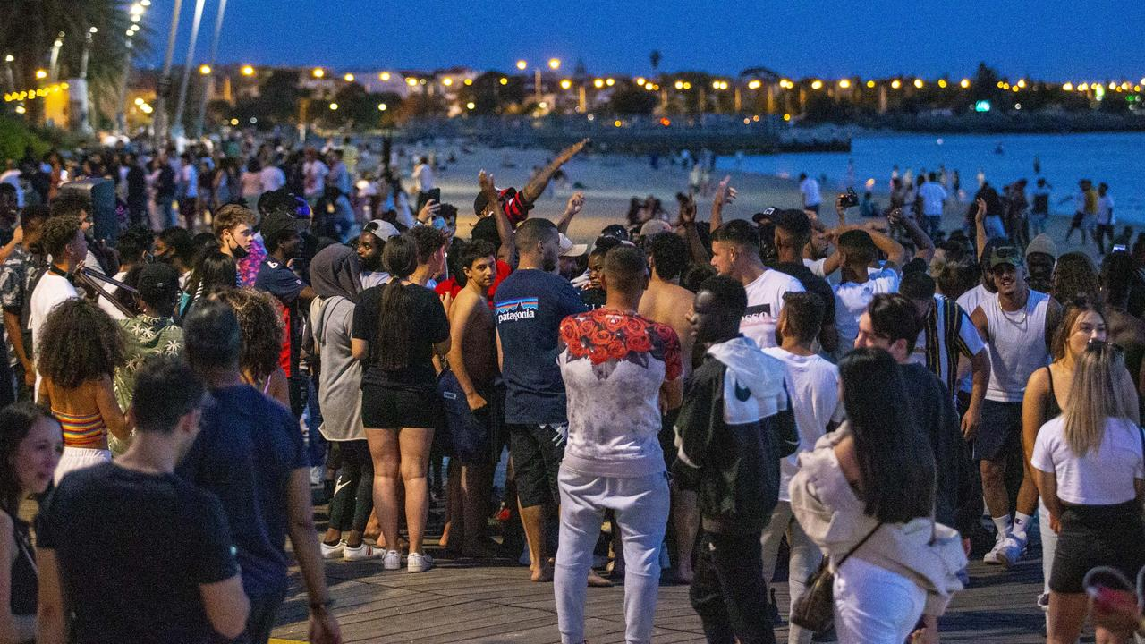 Large crowds gathered at the beach. Picture: Wayne Taylor