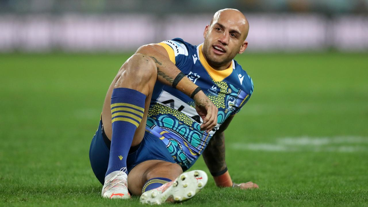 """Parramatta winger Blake Ferguson remains """"deep in conversation"""" with Super Rugby franchise the Western Force, but Wallabies legend Matt Burke has warned the challenges facing Ferguson making a successful code switch. Picture: Brett Costello � NRL Photos"""