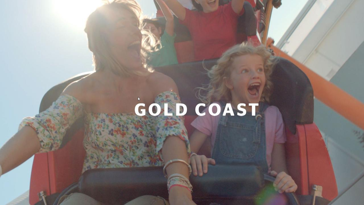 Vision from a new Tourism and Events Queensland campaign to air during the AFL grand final. Screen Shot Supplied