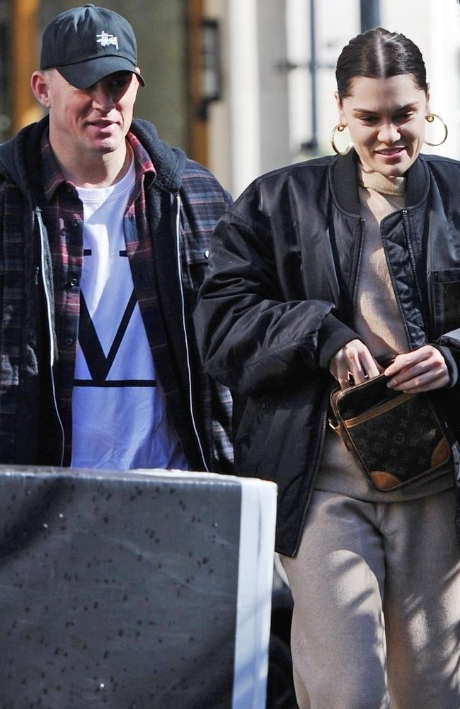 The happy couple looked relaxed as they enjoyed the sunshine in London together. Picture: Zed Jameson/Backgrid