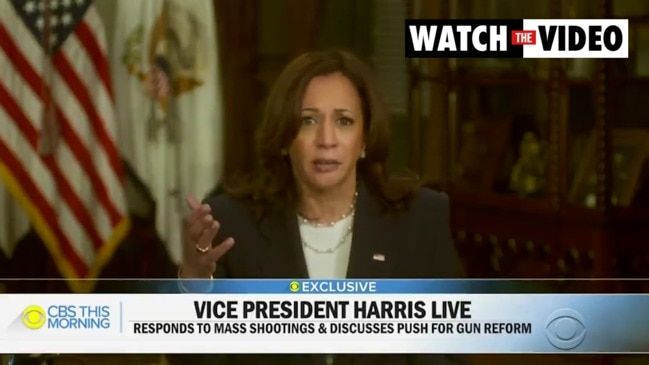 Kamala Harris vents her frustration over failure to pass stricter gun laws (CBS This Morning)