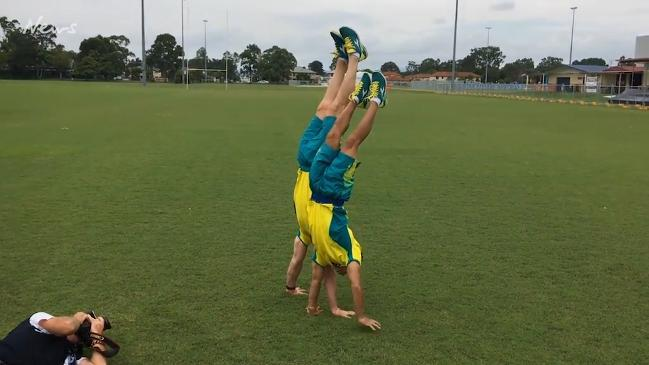 Aussie gymnasts show off their tricks