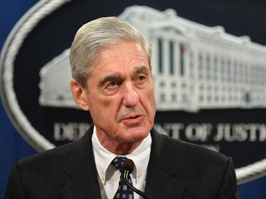 Special counsel Robert Mueller speaks on the investigation into Russian interference in the 2016 presidential election in Washington, DC. Picture: AFP