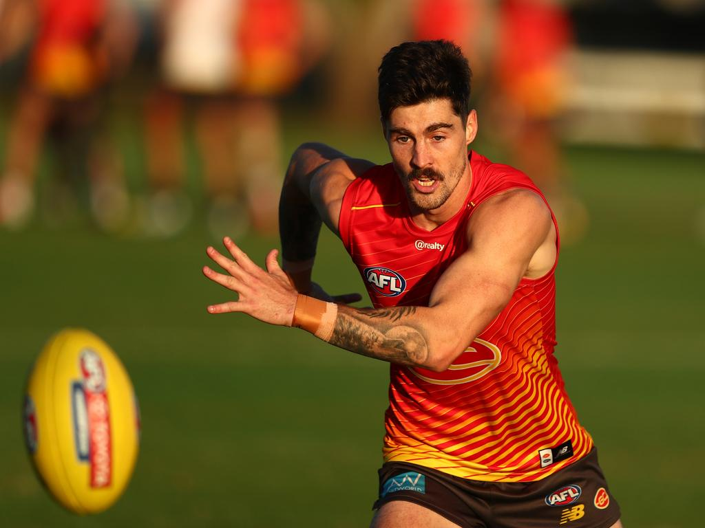 Alex Sexton is set to make his 150th appearance for the Gold Coast Suns. Picture: Chris Hyde/Getty Images