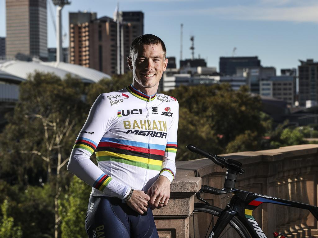 The two-time World Champion in his rainbow jersey.