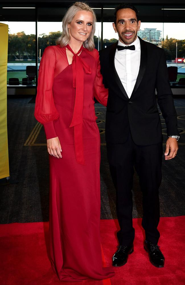 Adelaide Crow's Eddie Betts and wife Anna Scullie Picture: Bianca De Marchi
