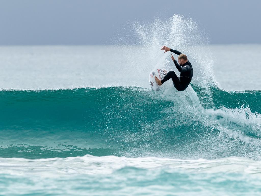 Surfing legend Mick Fanning at Tugun.