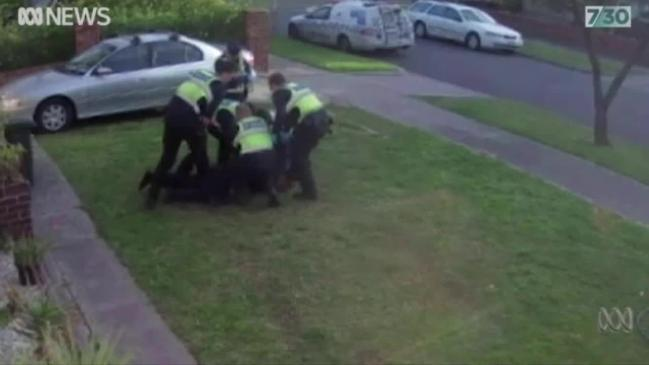 Melbourne police recorded taking down disability pensioner