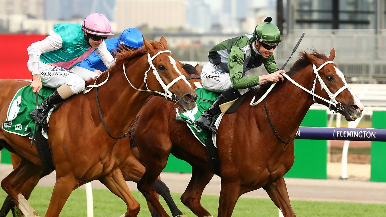 Kings Will Dream winning the Turnbull Stakes. Photo: Kelly Defina/Getty Images