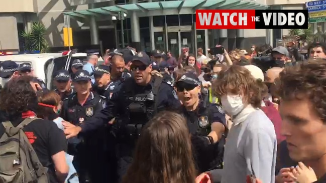 BLM protest chaos in Brisbane: 'F*** the police'