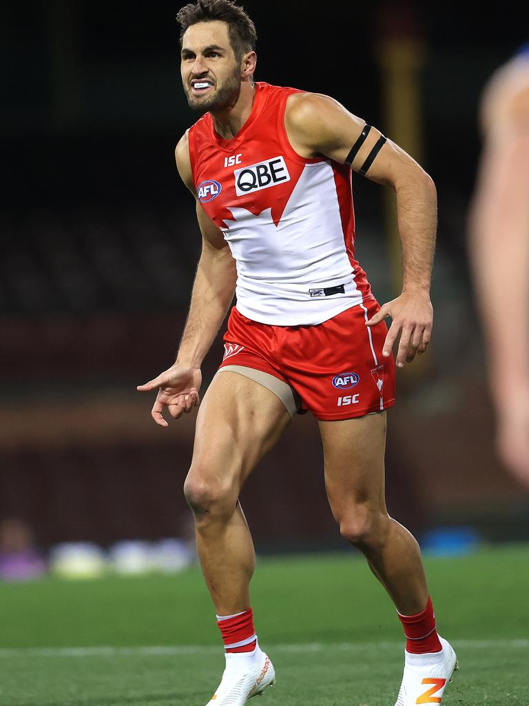 Sydney's Josh Kennedy in game number 250. Picture. Phil Hillyard.