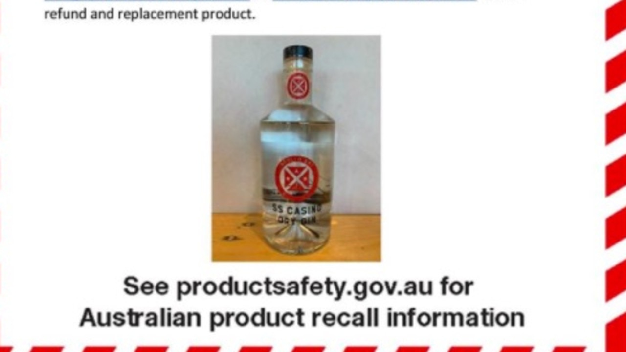 SS Casino Gin has been urgently recalled.