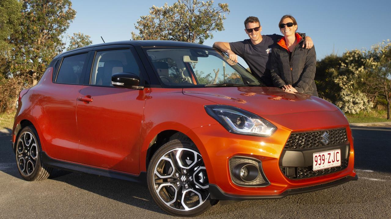 The new Suzuki Swift Sport looks racy in Flame orange. Pic: Iain Curry.