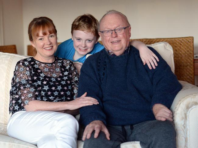 Graham Richardson with wife Amanda and nine-year-old son, D'Arcy. Photo Jeremy Piper