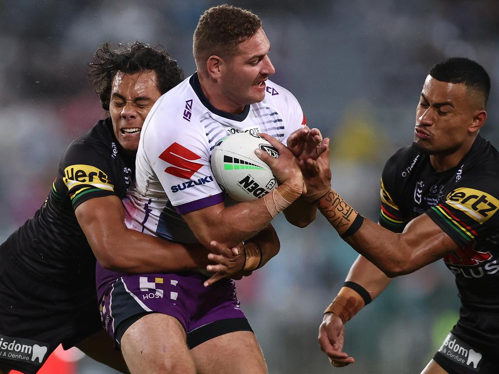 Lee played at centre in the Storm's grand final win over the Panthers (Photo by Cameron Spencer/Getty Images)