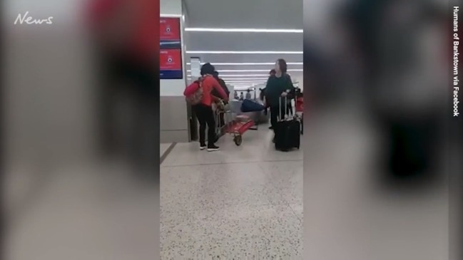 Woman's airport gaffe goes viral
