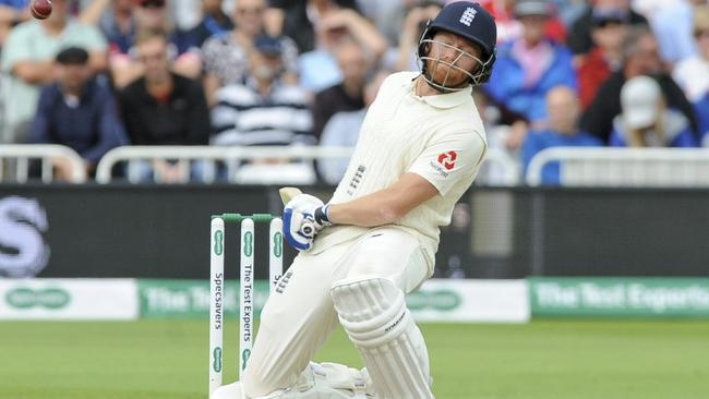 It was a tough day at the office for England's batsmen. Picture: AP Photo