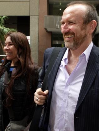 Copyright nightmare ...  Colin Hay and wife Cecilia Noel at the Supreme Court in Sydney. Picture: Supplied