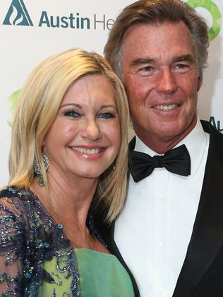 Olivia Newton-John with her husband John Easterling.  Picture:  Supplied