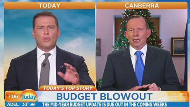 Hard line ... Karl Stefanovic berated embattled Prime Minister Tony Abbott, in an exchange that quickly went viral.