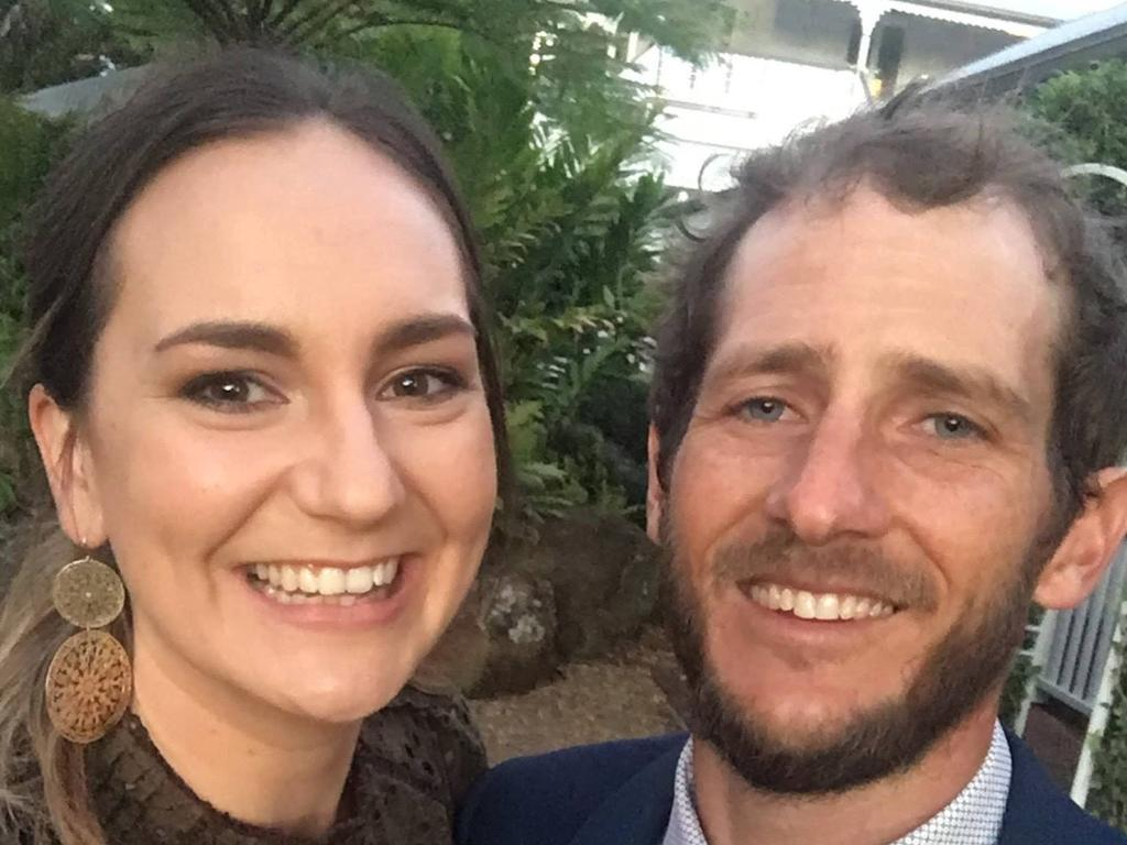 Matty Field and Kate Leadbetter were killed while crossing the road in Alexandra Hills as they walked their dogs. Ms Leadbetter was believed to have been pregnant. Supplied: Facebook