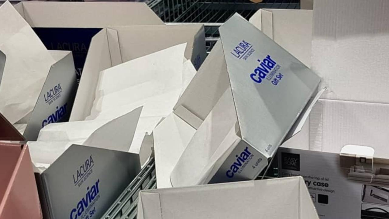Aldi causes chaos over $29.99 Lacura gift sets. Picture: Instagram