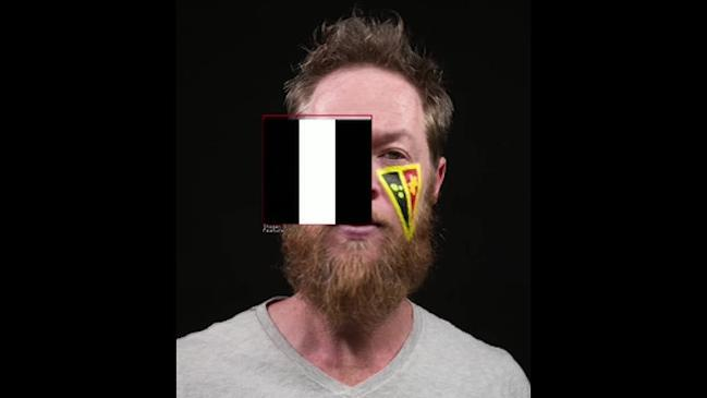Artist Jason Wing used facial recognition software to create this self portrait titled Brute Force >> Merge Sort.
