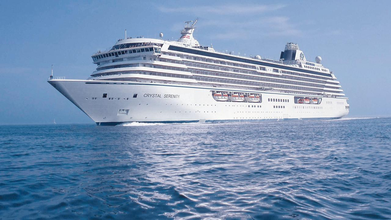 all-inclusive cruise lines Crystal Serenity at sea Picture: Supplied