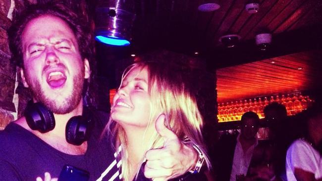 Lara Bingle and then boyfriend Nick Cohen at Hugo's Kings Cross.