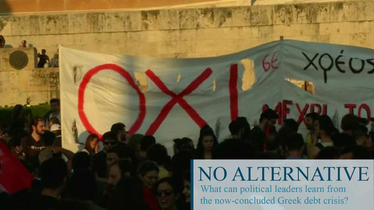 Lessons learned at Greece's expense