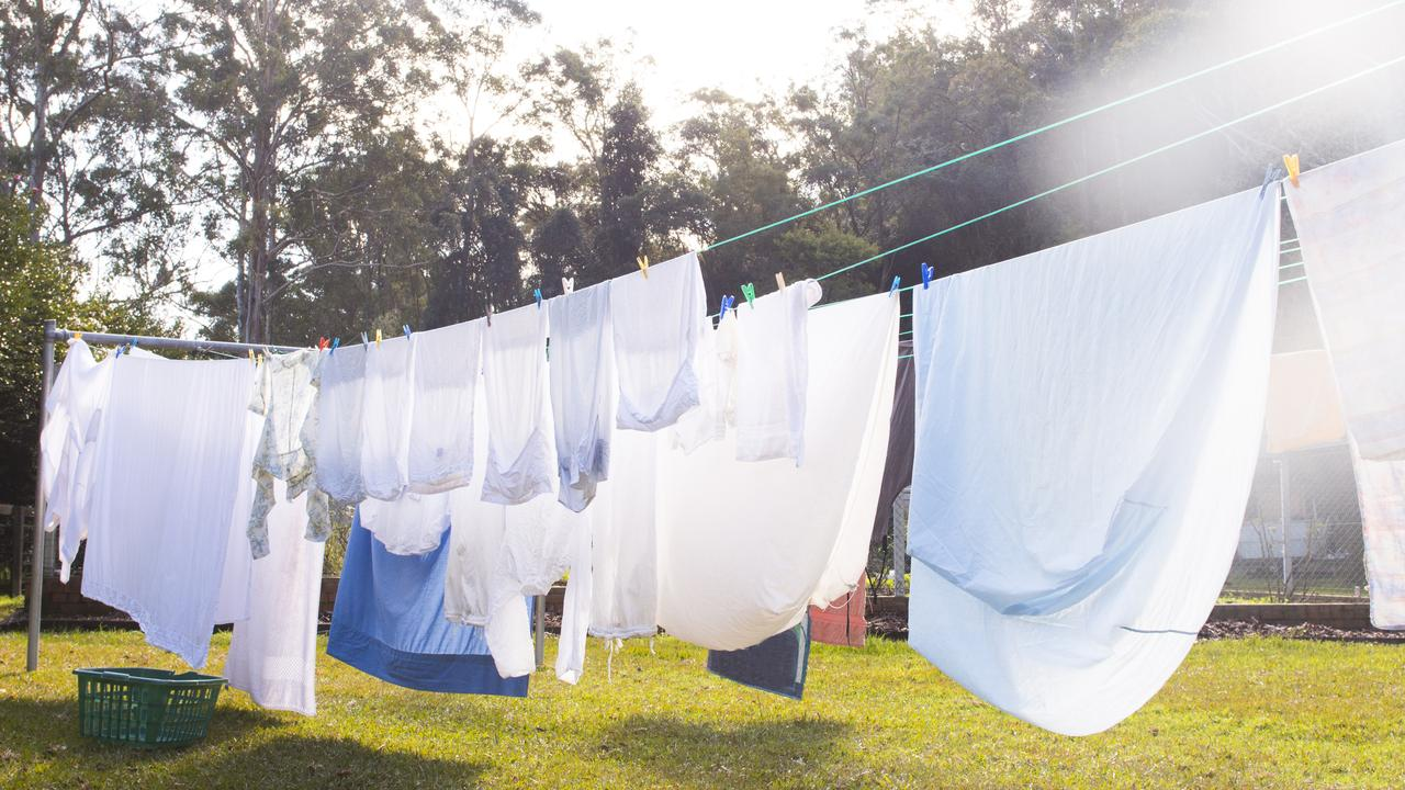 Many people in the US don't air dry clothes because of the rules around hanging clothes outside your house. Picture: iStock